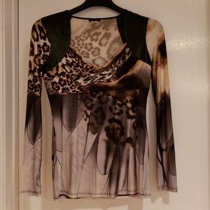 Venus leopard print blouse